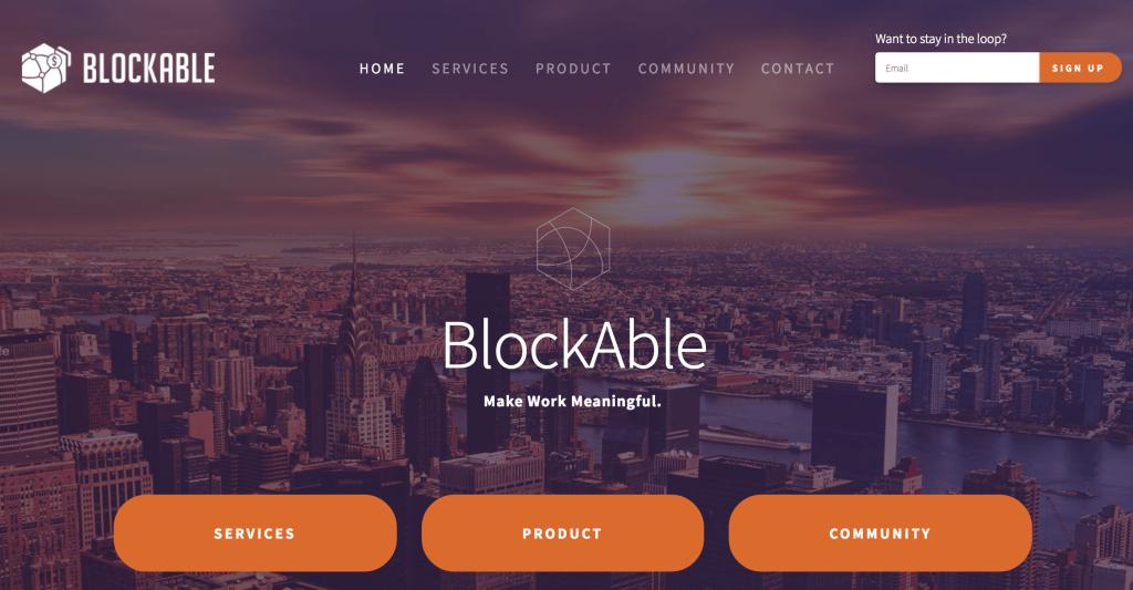 Blockableのウェブサイト